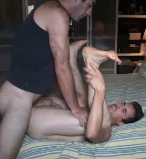 Daddy fucking his son