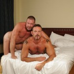 17 14 150x150 Tattooed Colin Steele and Huge Cock Muscle Bear Lee Denim Fuck Raw