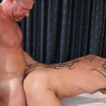 17 37 150x150 Tattooed Colin Steele and Huge Cock Muscle Bear Lee Denim Fuck Raw