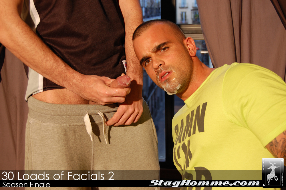 STAGHOMME DAMIEN CROSSE MOST CUM EVER full 14 Straight Guys Give Huge Cum Facials