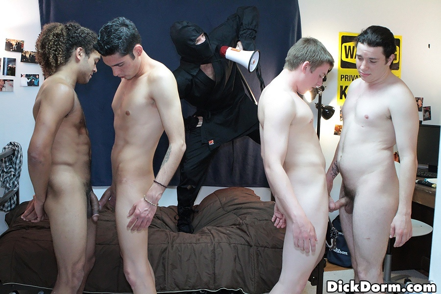 brad 204 Four Amateur Straight College Boys Hazed in the Dorm