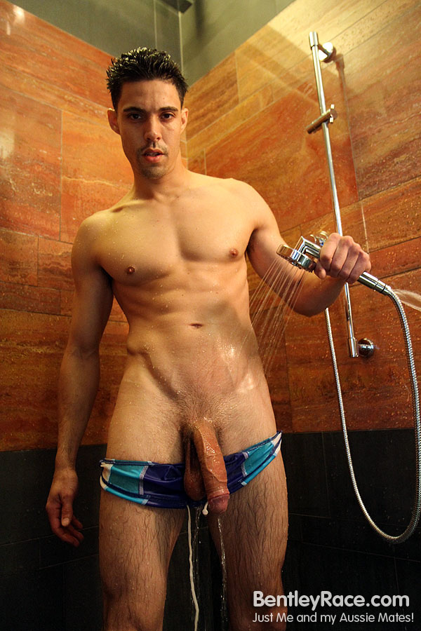 Big-Uncut-Cock-Rich-Santana-Bentley-Race-RichSantana52 Hung Uncut Amateur Latino With Huge Cock in the Shower