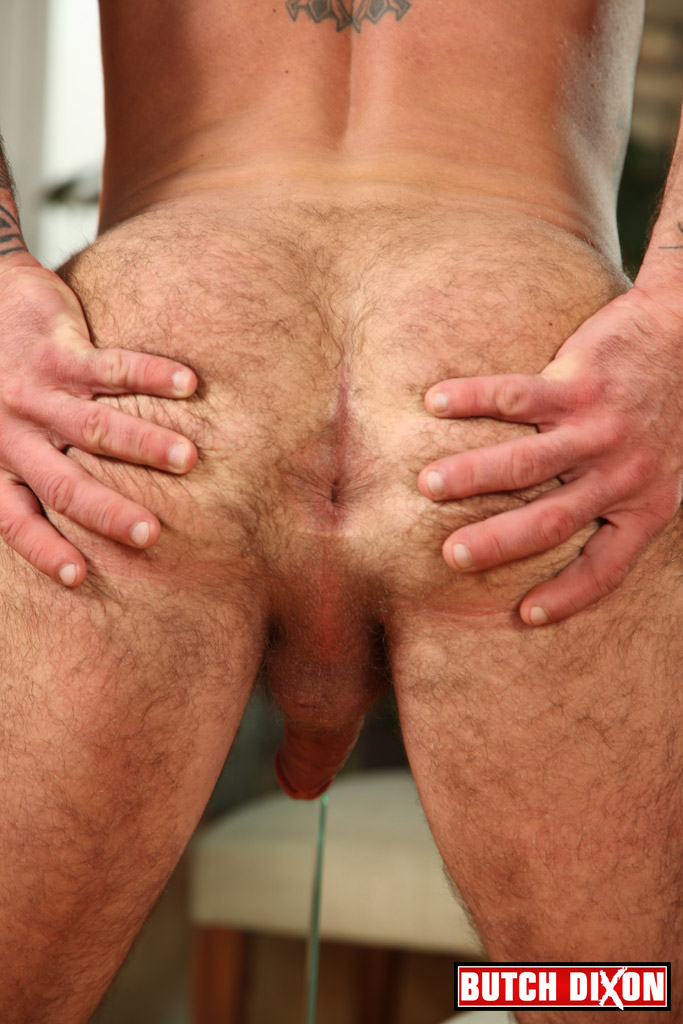 Butch Dixon Seth Wilkins Hairy Muscle Daddy IMG 8280 Bisexual Hairy, Tattooed Daddy Shows His Hairy Ass and Cock