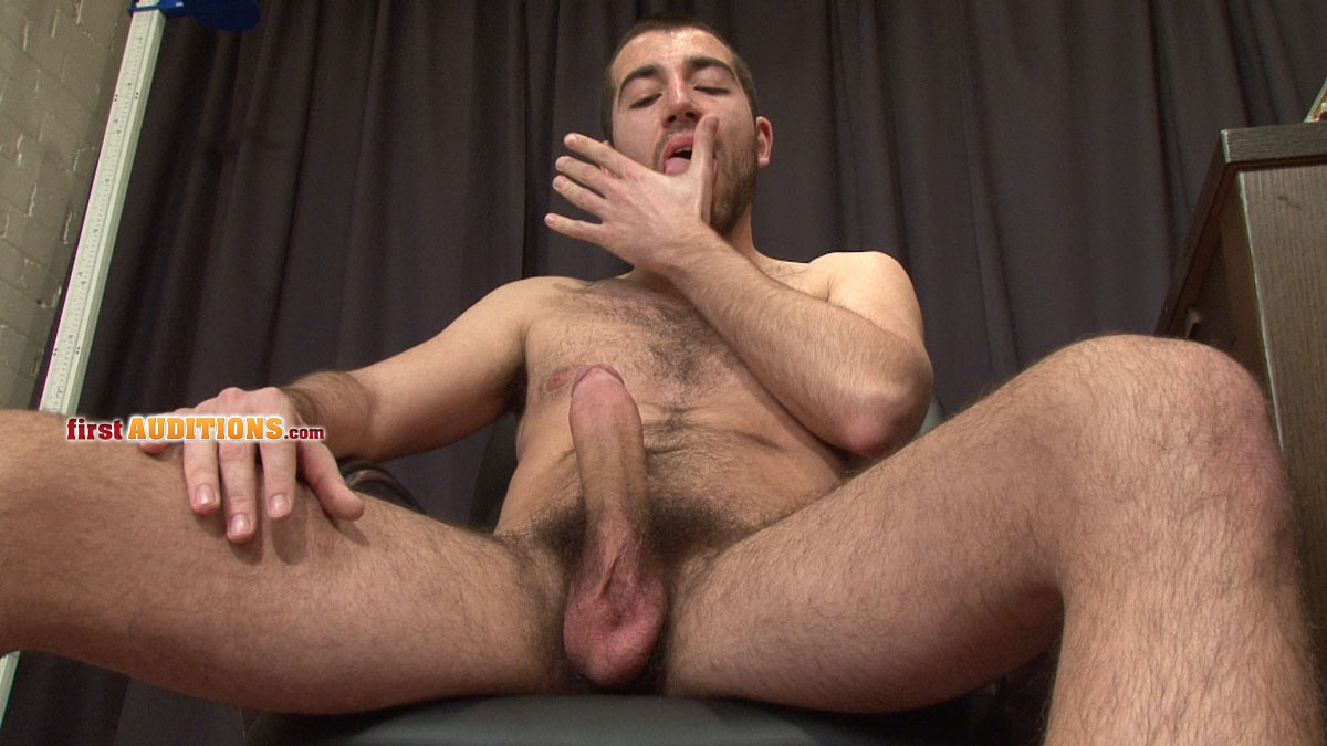FirstAuditions Lukas Big Uncut Cock Jack Off 13 Amateur Hairy Young Straight Guy with Uncut Cock Shoots a Huge Cum Load