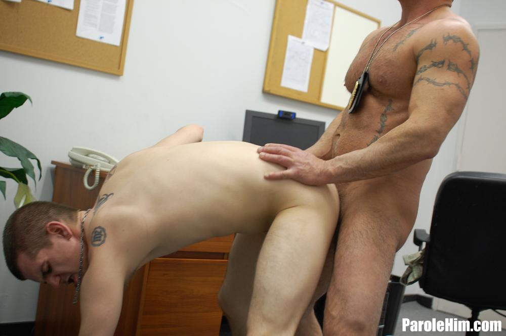 Parole Him Officer Thompson fucks Anthony Mose bareback uncut amateur cock 06 Hidden Cam: Parole Officer Bareback Fucks his Parolee