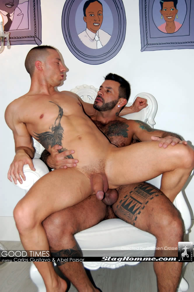 Stag-Homme-Abel-Pozsar-and-Carlos-Gustavo-Fucking-25 Tattooed Brazilian Stud Fucks Abel Pozsar Hard