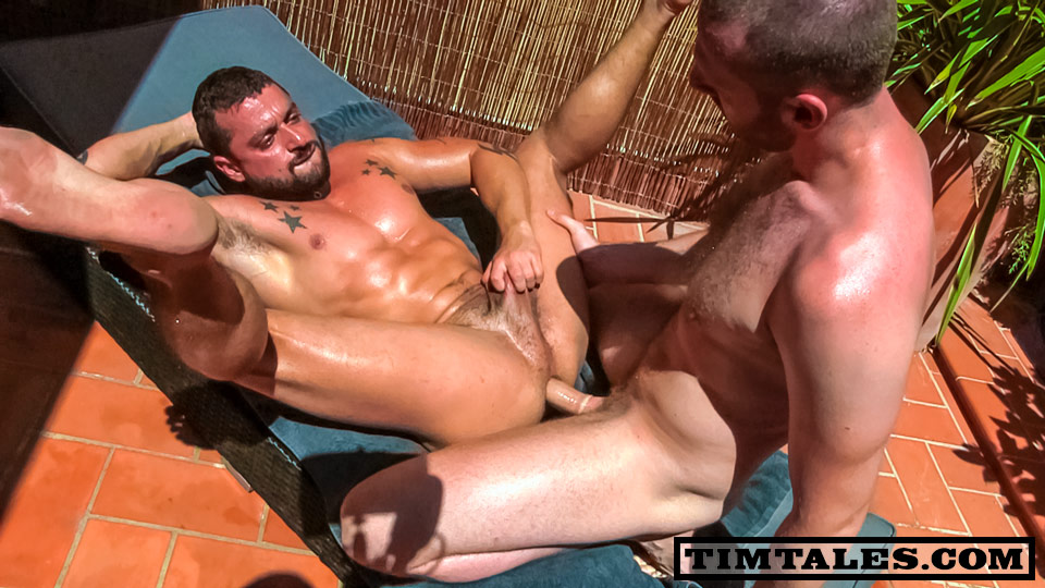 TimTales Tim and David Avila Fucking Muscle Big Cock 02 Tim Fucks David Avila with His Big Uncut Cock   Hot New Muscle Bottom