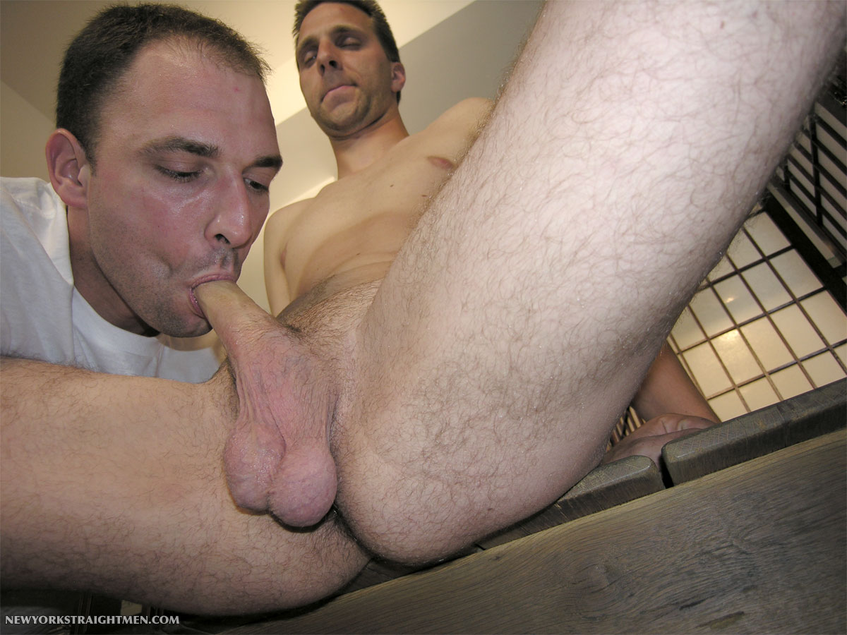 Sucking straight cock