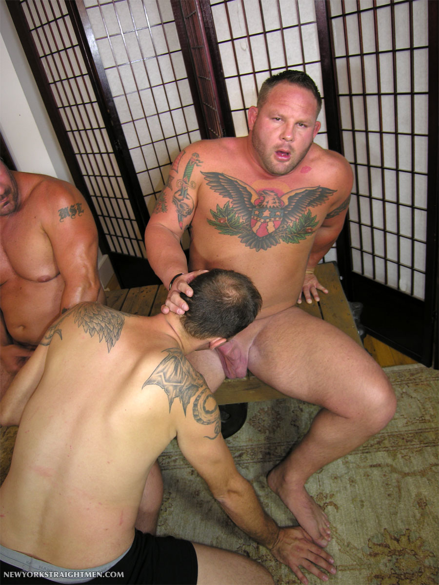 NewYorkStraightMen Rocco and Magnus torrent 09 Two Straight Big Muscle Guys Get Serviced By An Obedient Cocksucker