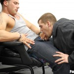 parolehim anthony mose benny charge torrent bareback 07 150x150 Parole Officer Forces Two Young Amateur Parolees to Fuck in His Office