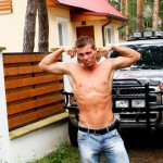 Out in Public Bareback Camp Aslan Brutti George 01 150x150 Amateur Muscle Hunk Gets Fucked Bareback Outdoors while Camping