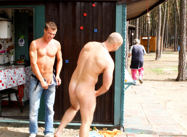 Out in Public Bareback Camp Aslan Brutti George 03 Amateur Muscle Hunk Gets Fucked Bareback Outdoors while Camping