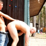 Out in Public Bareback Camp Aslan Brutti George 06 150x150 Amateur Muscle Hunk Gets Fucked Bareback Outdoors while Camping