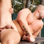 Out in Public Bareback Camp Aslan Brutti George 10 150x150 Amateur Muscle Hunk Gets Fucked Bareback Outdoors while Camping