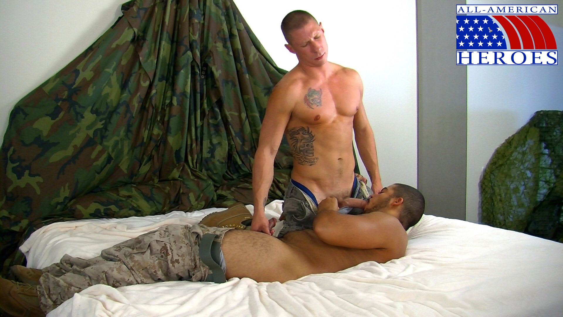 All-American-Heros-Private-Tyler-fucks-Private-Alex-army-marine-fuck-03 Hot Amateur Army Guy With Big Cock Tops a Hairy Marine
