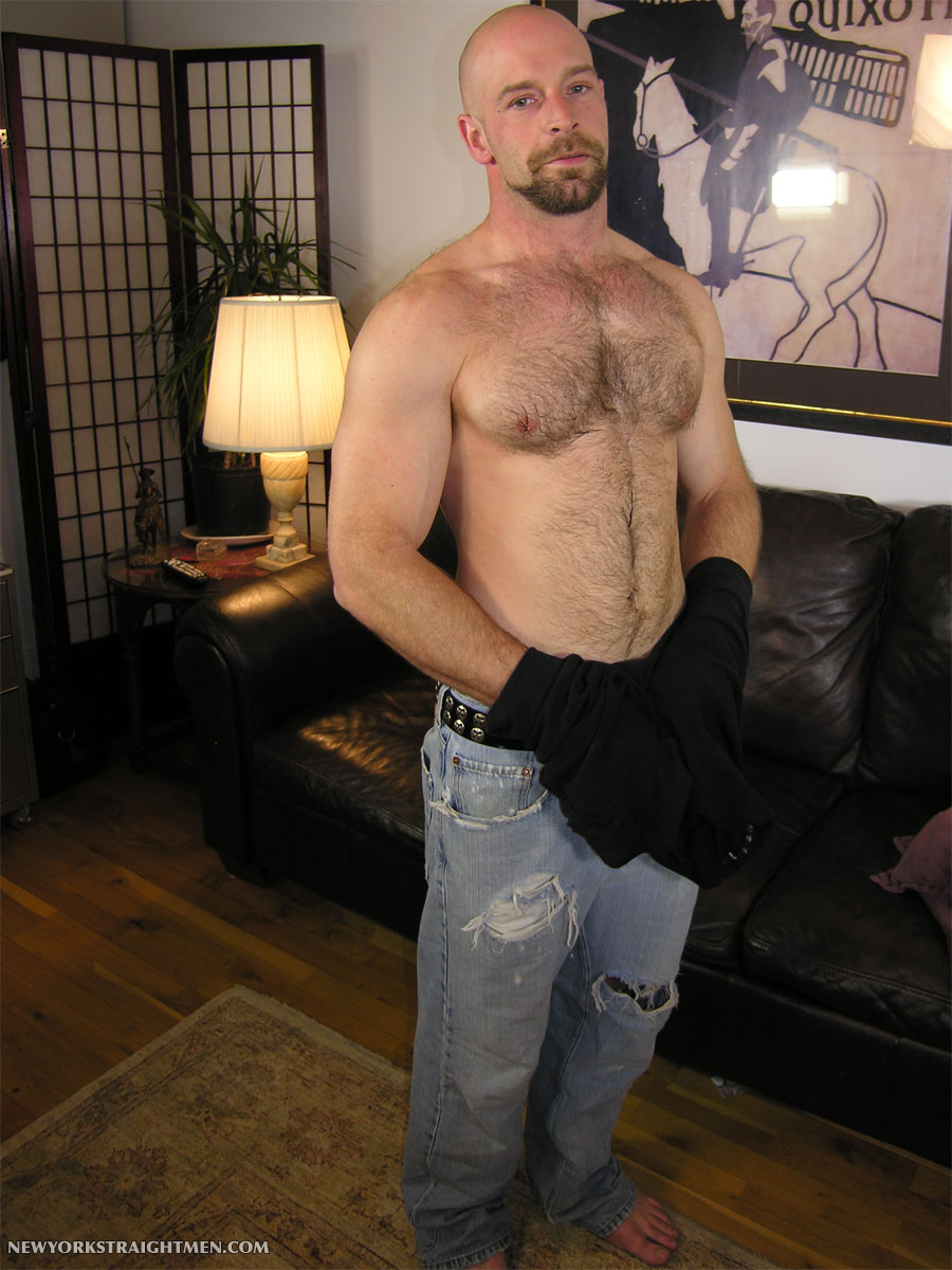 New York Straight Men Derick hairy muscle rimmed 14 Sexy Amateur Straight Hairy Muscle Blue Collar Stud Gets Serviced