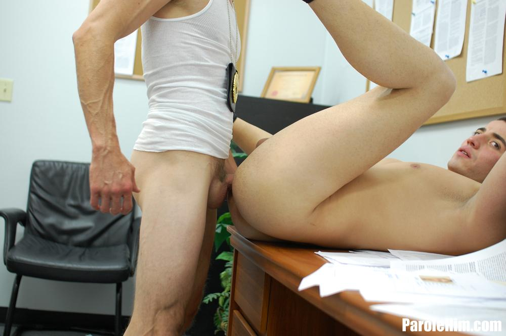 Parole Him Rafeal Mendoza bareback force fucking 01 Parole Officer Intimidates and Barebacks a Young Latino Parolee