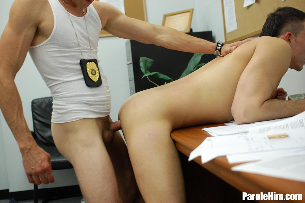 Parole Him Rafeal Mendoza bareback force fucking 04 Parole Officer Intimidates and Barebacks a Young Latino Parolee