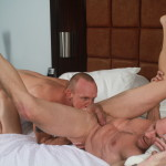 Bareback That Hole Parker and Mason Garet Muscle Daddy Barebacking 04 150x150 Amateur Muscle Daddy Fucks His Buddy Bareback With His Big Cock