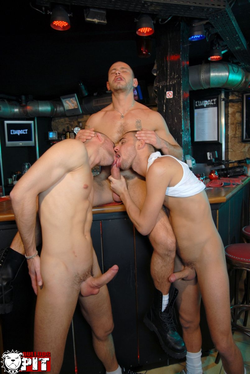 Bulldog Pit Greg Adams and Brice Farmer and Ivan Rueda threeway amatuer jock fucking big uncut cocks 08 Amateur Hunks With Big Uncut Cocks Caught Fucking in a Gay Bar