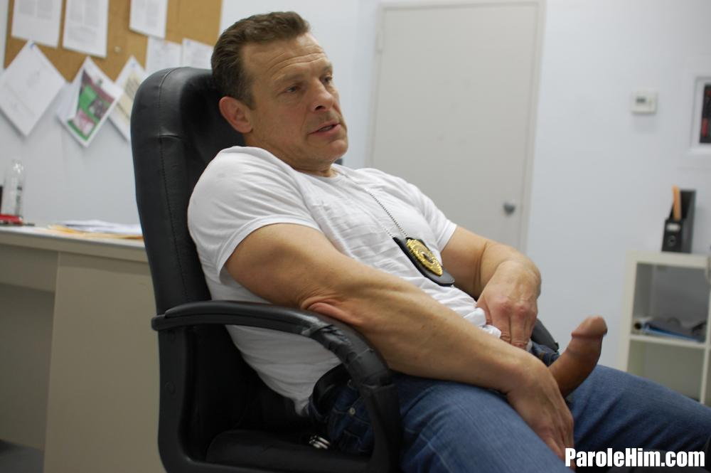 ParoleHim-Michael-Covington-gets-barebacked-by-a-thick-cock-parole-officer-23 Thick Cock Muscle Parole Officer Barebacks A Tight Young Straight Criminal