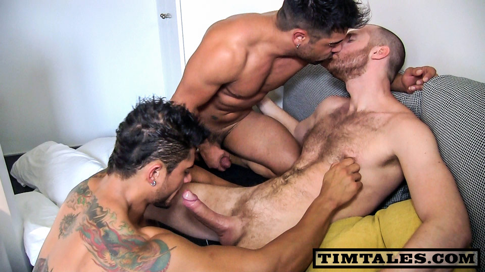TimTales-Tim-Diego-and-Wagner-Threesome-Huge-Uncut-Cocks-Fucking-08 Three Way Amateur Fuck Session at TimTales with Huge Uncut Cocks