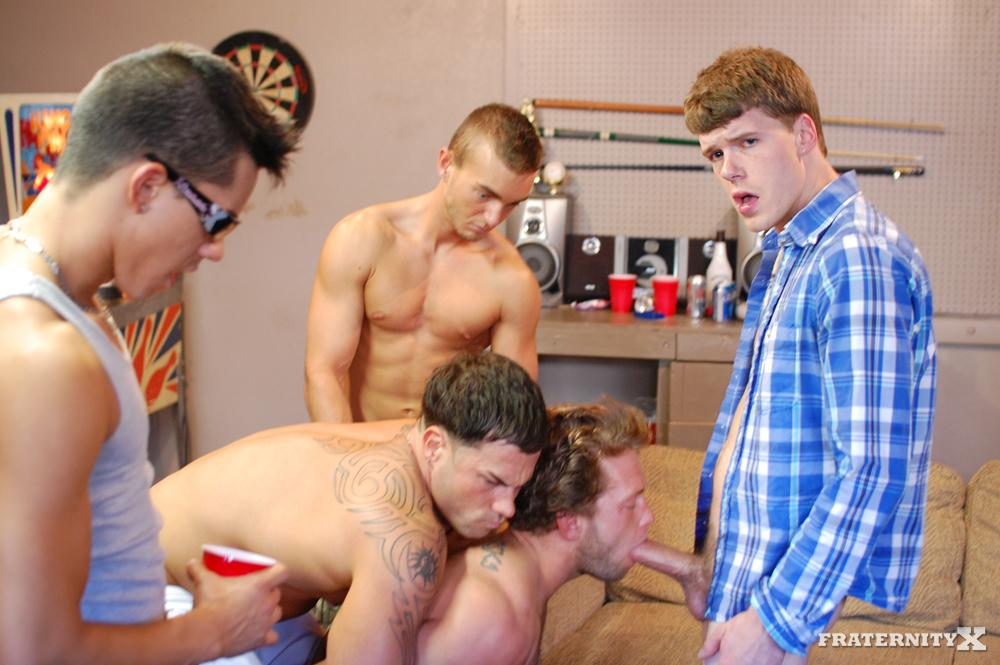 Gay fun frat porn xxx hot breast suck party 4