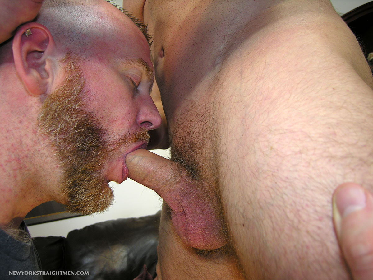 New York Straight Men Officer T and Sean Straight Guy Getting Cock Sucked By A Gay Guy Amateur Gay Porn 05 Red headed Amateur Huge Cock With A Hairy Red Bush