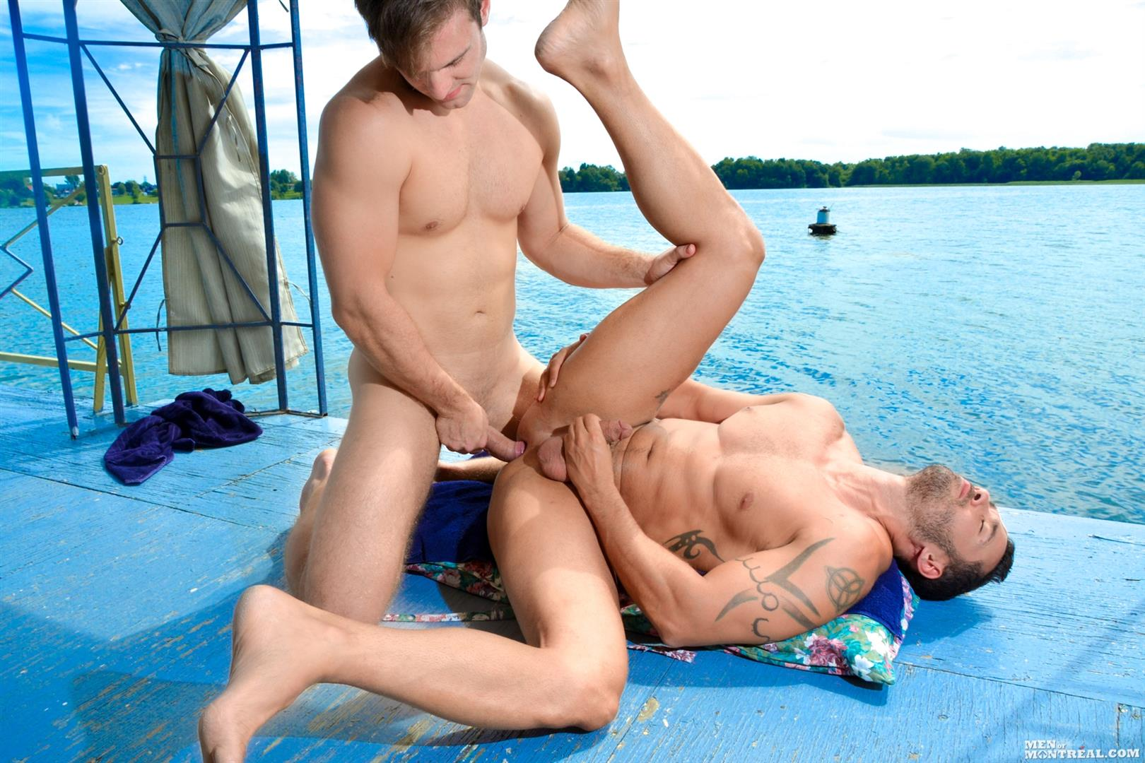 Men of Montreal Gabriel Clark and Alexy Tyler Muscle Studs Fucking Amateur Gay Porn 14 Big Cock Amateur Muscle Studs Fucking Along The River Banks