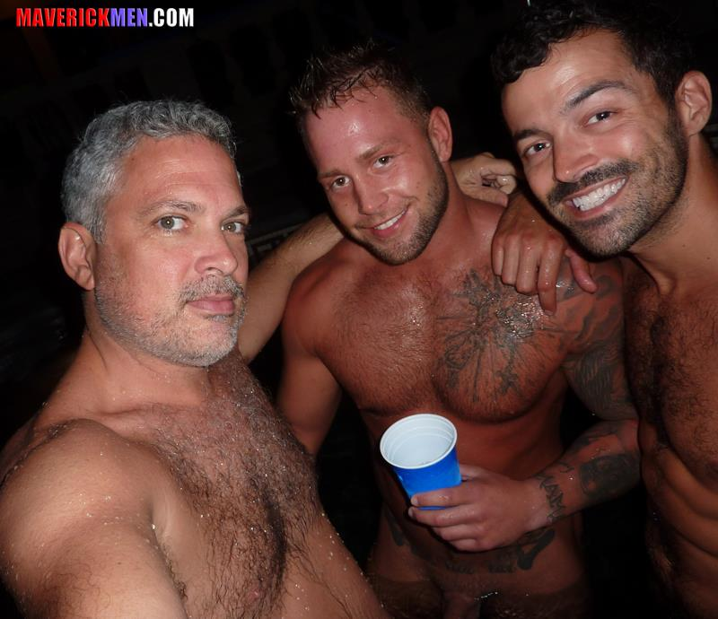 Maverick-Men-Carter-Jacobs-Drunks-Guys-With-Big-Cocks-Barebacking-Amateur-Gay-Porn-1 Drunk, Horny, Hairy, Muscle Gay Lovers Bareback Their Straight Buddy