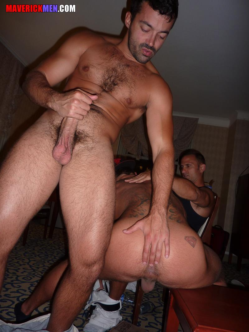 Maverick-Men-Carter-Jacobs-Drunks-Guys-With-Big-Cocks-Barebacking-Amateur-Gay-Porn-4 Drunk, Horny, Hairy, Muscle Gay Lovers Bareback Their Straight Buddy