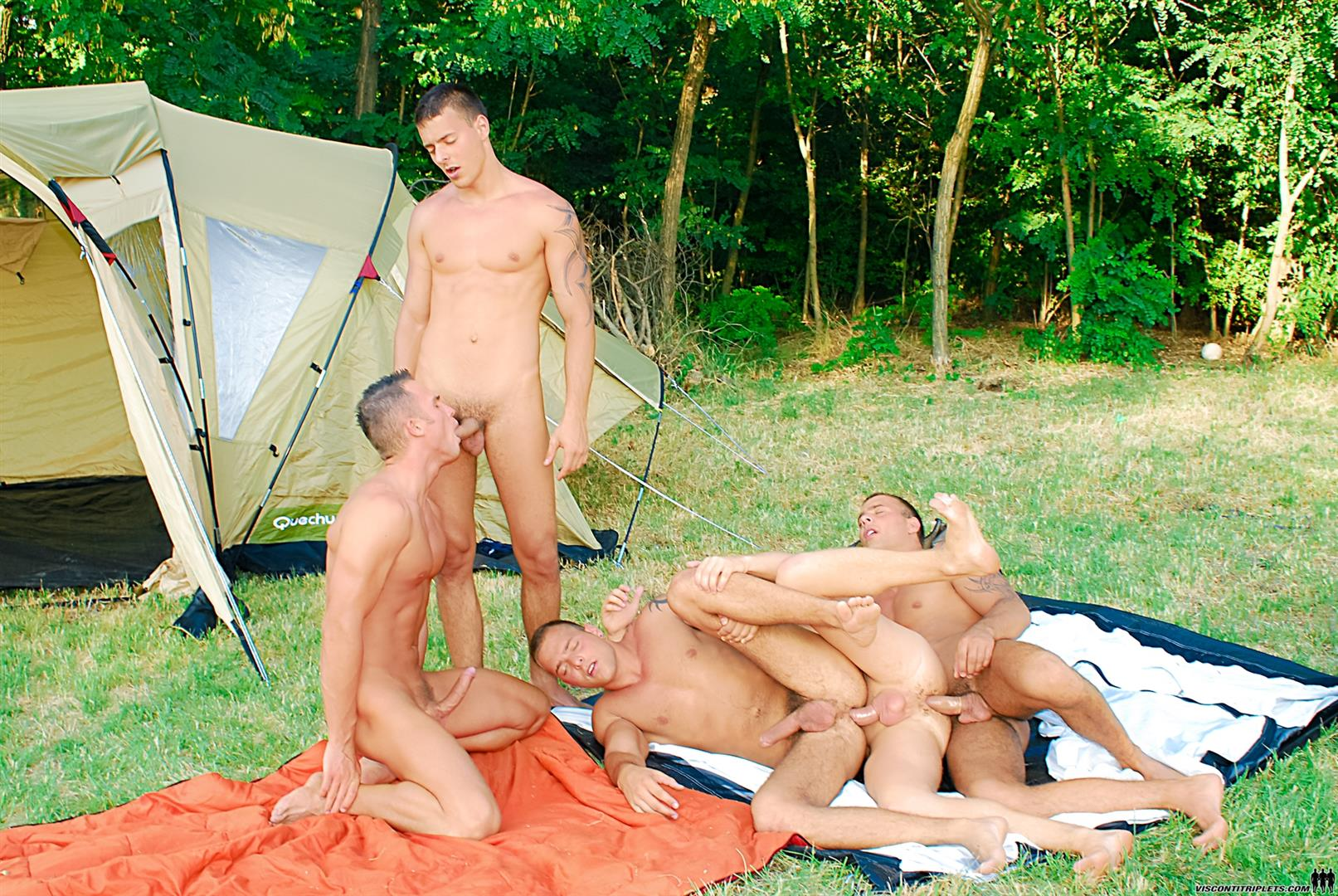 Guys take turns cumming on boys asshole gay