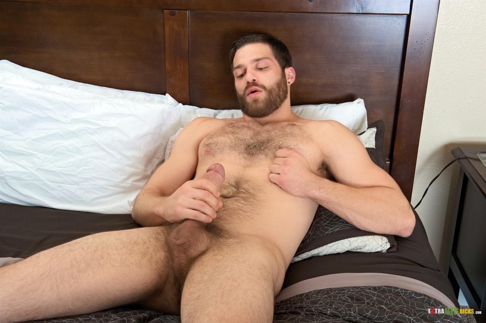 Hairy male jerk offs