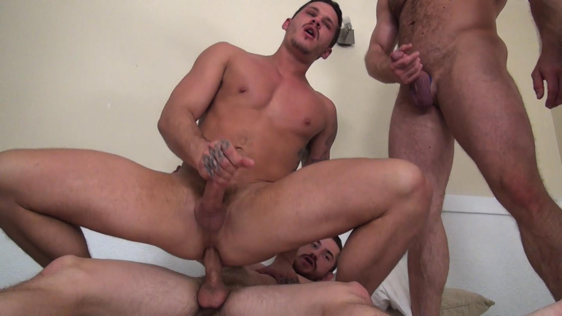 Raw Fuck Club Dayton OConnor Tate Ryder Shay Michaels Adam Russo Bareback Breeding Amateur Gay Porn 3 Tate Ryder Gets Three Hairy Muscle Daddy Bareback Cocks