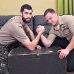 All American Heroes PRIVATE ANTONIO AND NAVY CORPSMAN LOGAN Military Guys Sucking Cock Amateur Gay Porn 01 150x150 US Navy Corpsman Trades Blowjobs With A British Army Private