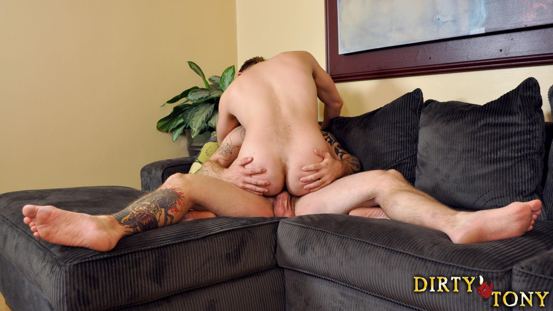 Fucked in various nasty positions andro masturbates his jism