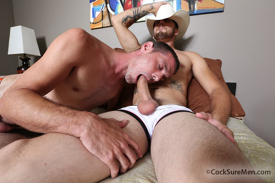 Cocksure-Men-Brett-Bradley-and-Dustin-Steele-Cowboy-gets-fucked-bareback-in-the-ass-Amateur-Gay-Porn-02 Brett Bradley Breeding A Cowboy With His 10