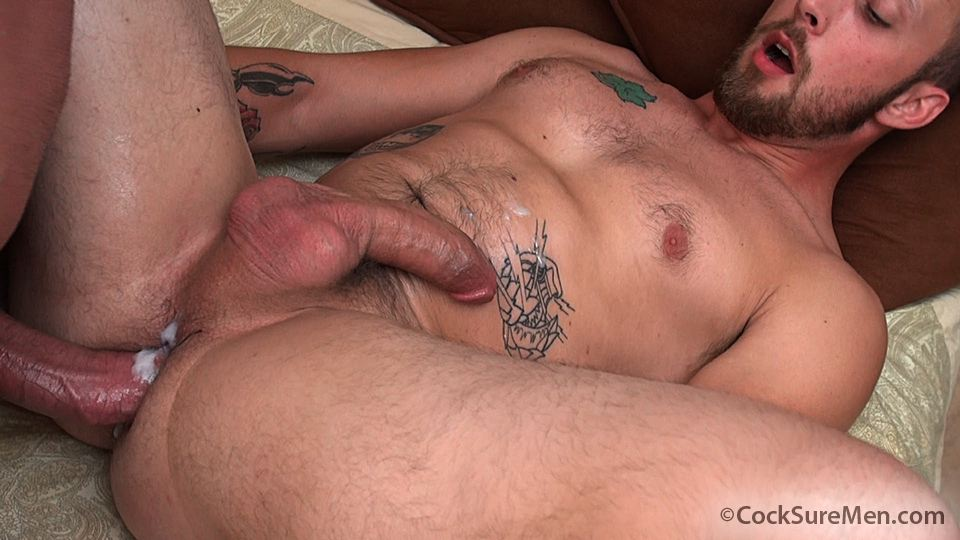 Cocksure Men Brett Bradley and Dustin Steele Cowboy gets fucked bareback in the ass Amateur Gay Porn 12 Brett Bradley Breeding A Cowboy With His 10