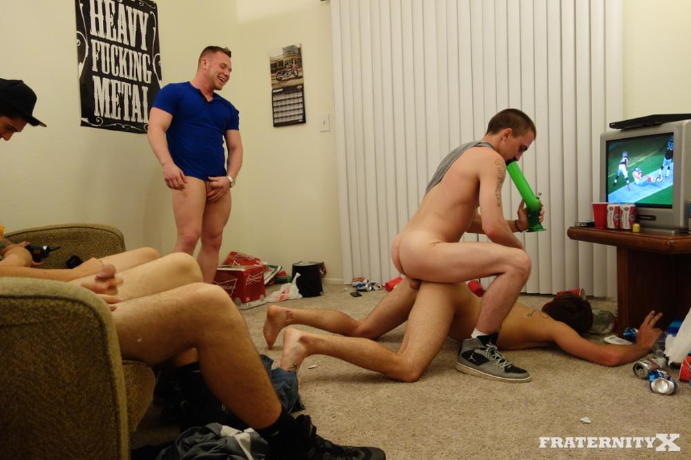 Fraternity X Brad Frat Guys With Big Cocks Fucking Bareback Amateur Gay Porn 07 Stoned and Drunk Frat Guys Bareback Gang Bang A Freshman Ass