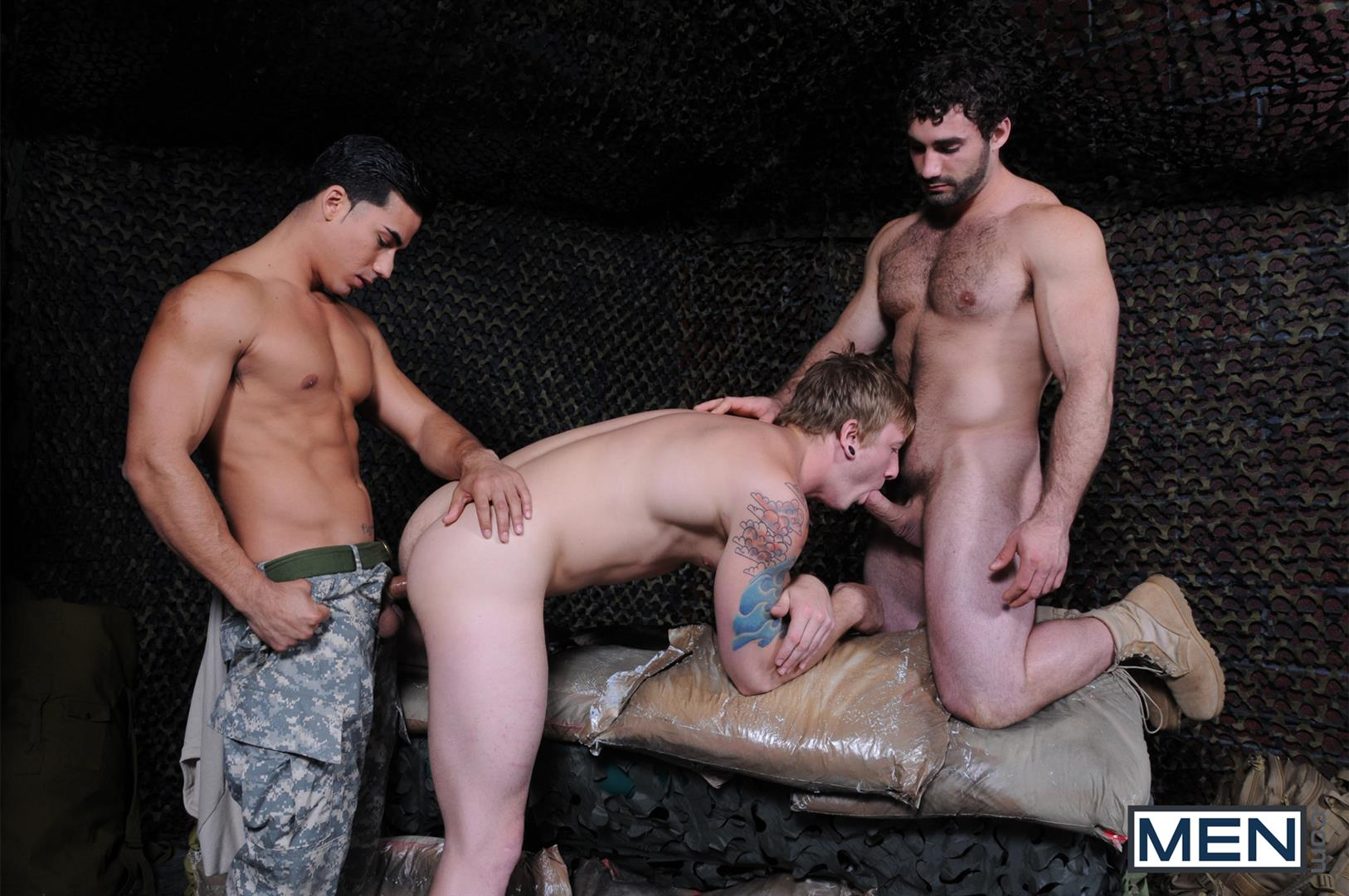 Men Tour of Duty Jaxton Wheeler and Tom Faulk and Topher Di Maggio Army Guys Fucking Amateur Gay Porn 08 Tom Faulk Getting Fucked by Topher DiMaggio and Jaxton Wheeler
