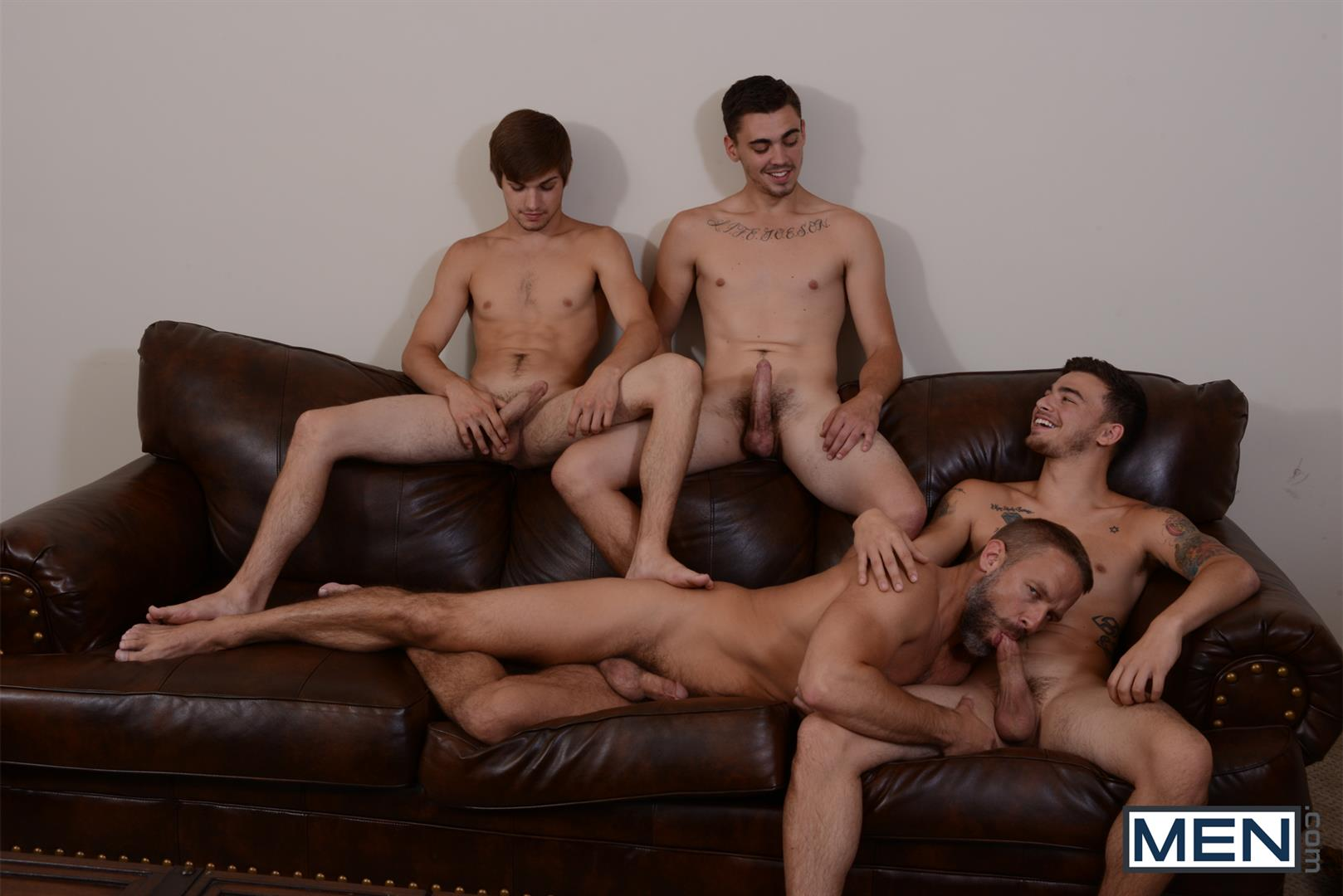 Men Jizz Orgy Asher Hawk and Dirk Caber and Johnny Rapid and Trevor Spade Triple Penetrated In the Ass Amateur Gay Porn 09 Stepfather Dirk Caber Gets TRIPLE Penetrated By His Stepsons
