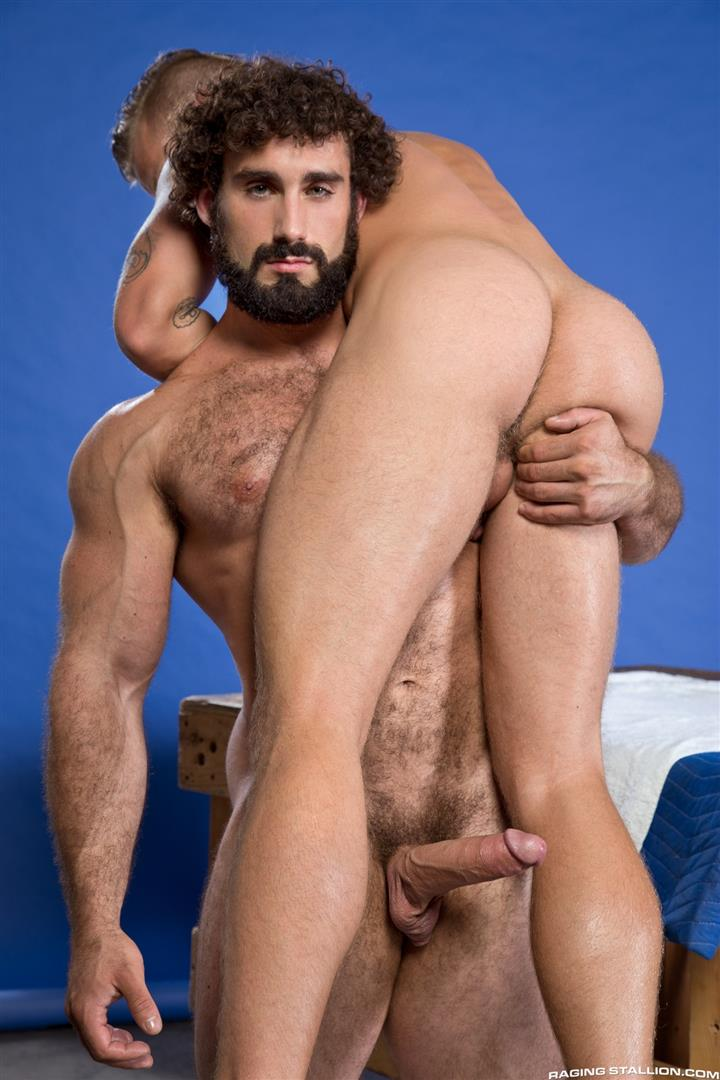 Curly-hair gay men fucking
