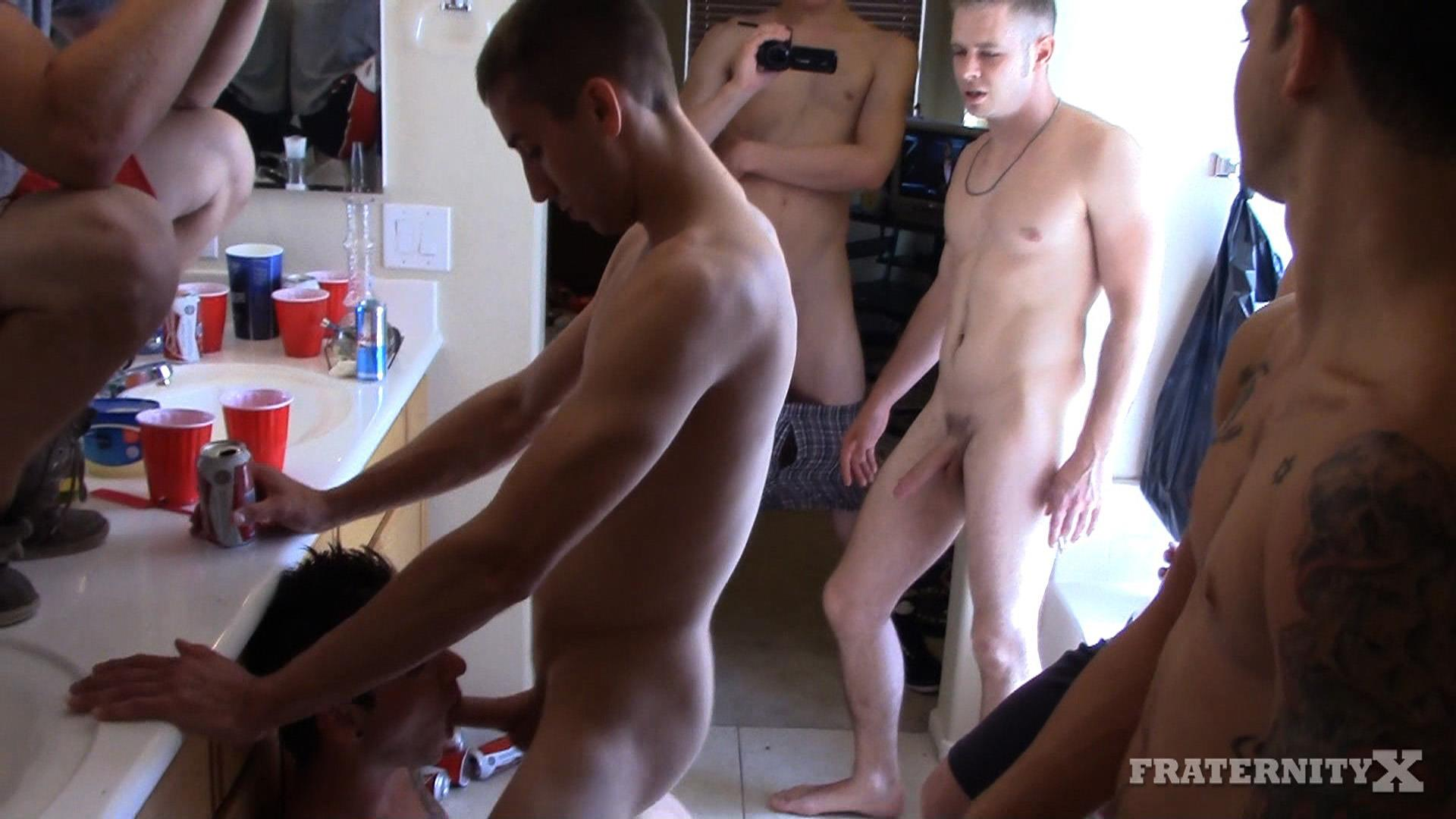 Fraternity X Frenchie Frat Guys Bareback Gang Bang In The Shower Amateur Gay Porn 15 Real Fraternity Boys Barebacking In The Frat Shower