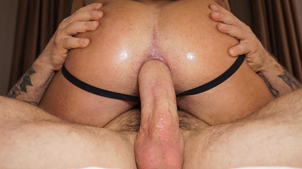 Gay big cock bareback sex