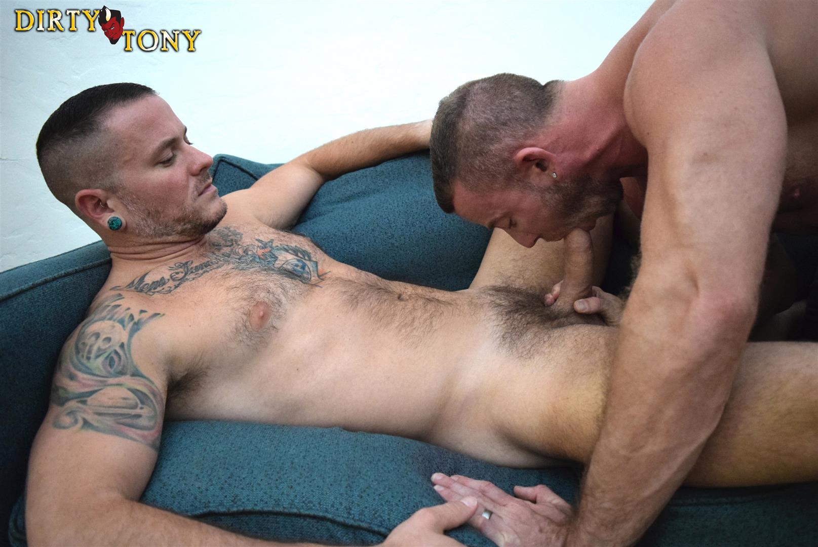 Dirty guy jerking large cock