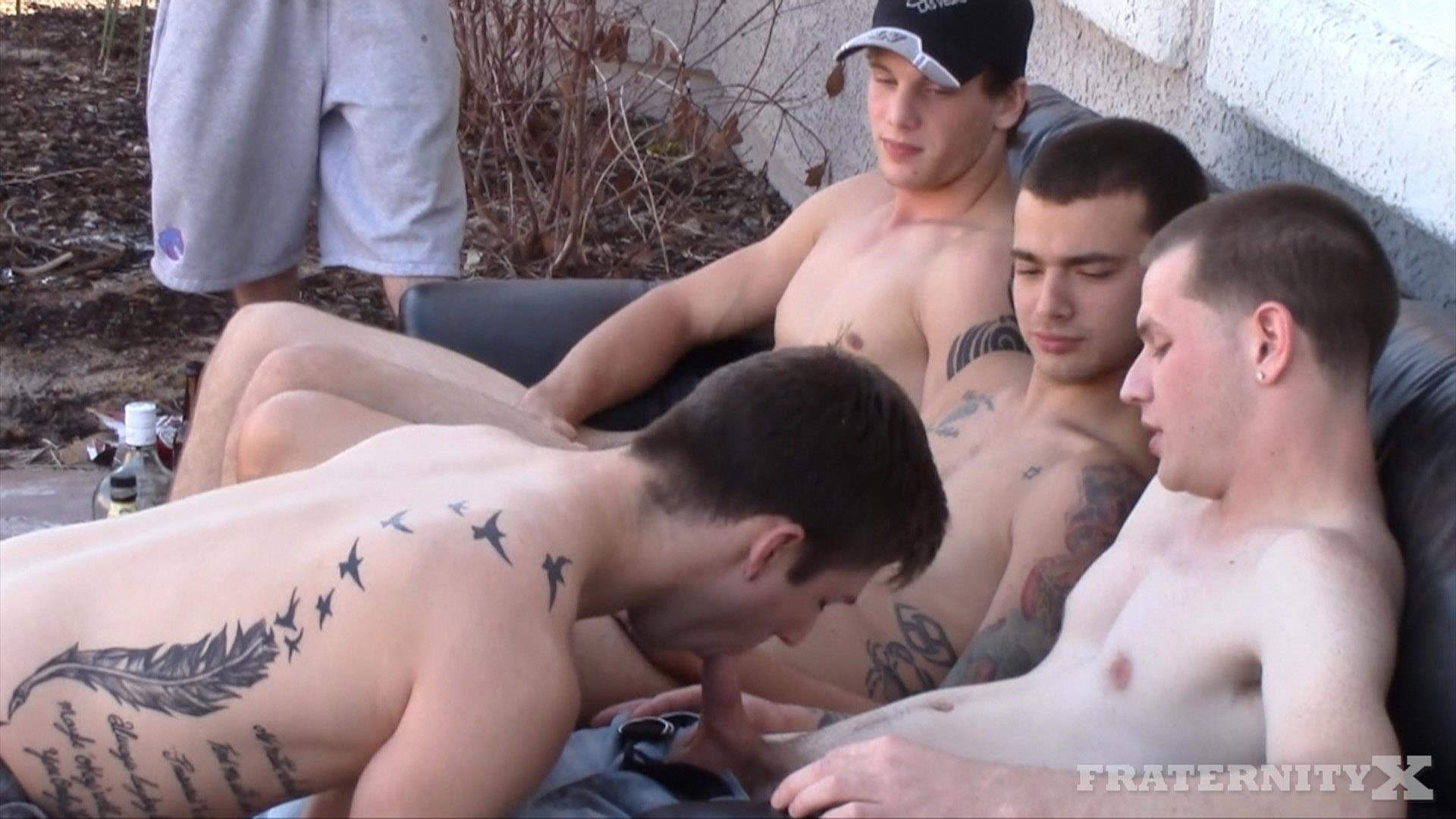 Fraternity X Frenchy Naked Frat Guys Barebacking Outside Big Dicks Amateur Gay Porn 02 Fraternity Boys Fucking Bareback Outside On The Frat Patio