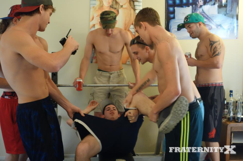 Straight Guys Strip And Wrestle For Gay Fraternity Brothers