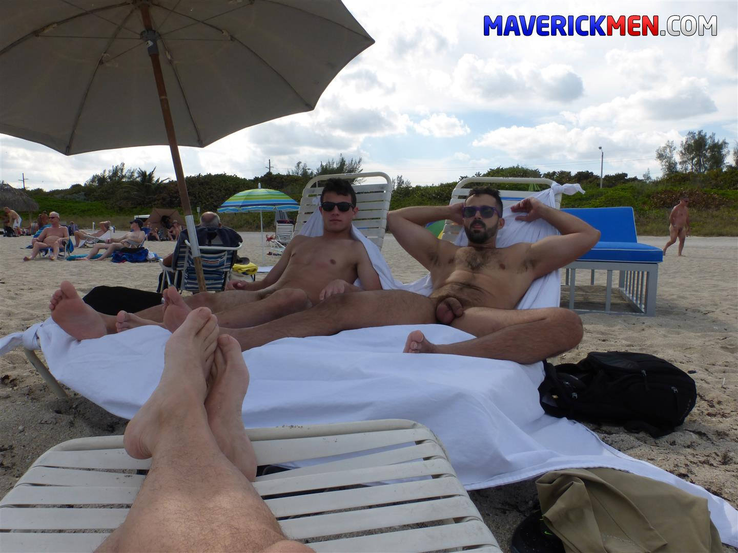 Hairy nude men beach