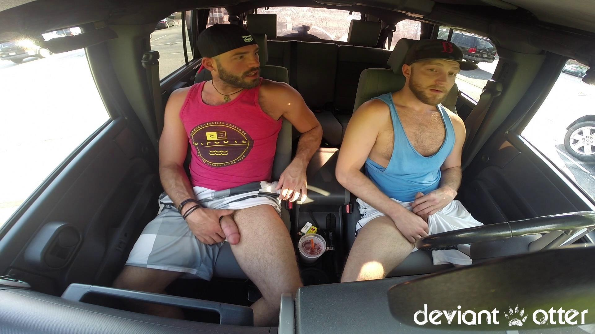 Deviant-Otter-Xavier-Sucking-Cock-In-Public-Hairy-Guys-Amateur-Gay-Porn-03 Masculine Hairy Guys Sucking Each Other's Cock In A Parking Lot