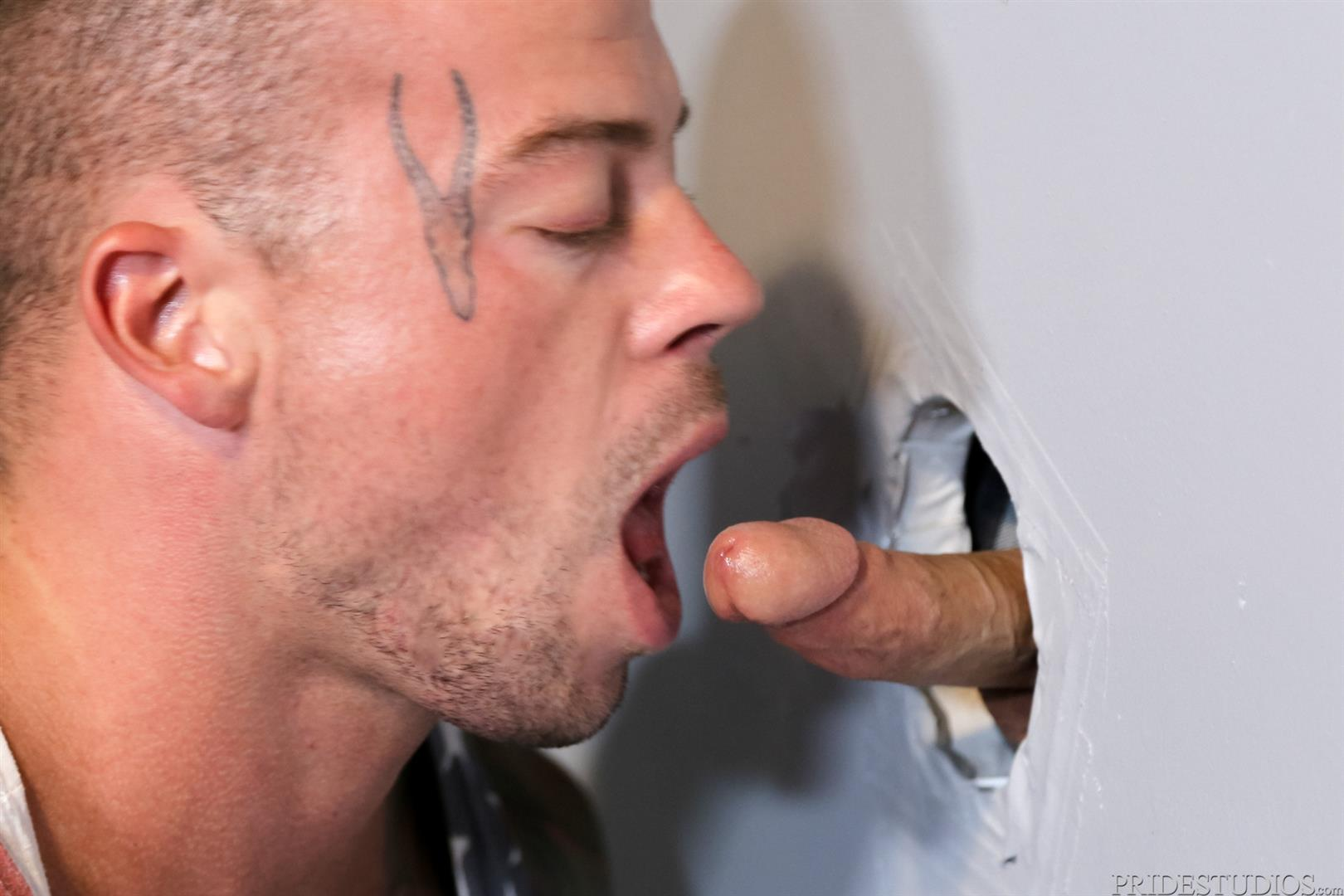 males suck cock through bathroom gloryhole